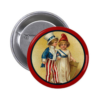Patriotic_Boy y Girl_Button Pins