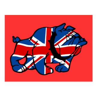 Patriotic British Bulldog Britsh flag Postcards