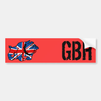 Patriotic British Bulldog Car Bumper Sticker