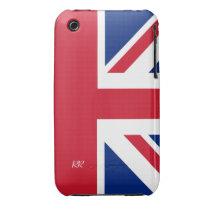 Patriotic British Union Jack iPhone 3 CaseMate iPhone 3 Case-Mate  Cases at Zazzle