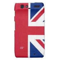 Patriotic British Union Jack Motorola Droid RAZR Motorola Droid  RAZR Covers at Zazzle