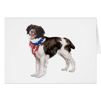 Patriotic Brittany Card
