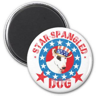 Patriotic Bull Terrier Magnet