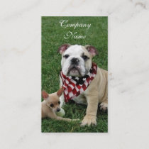 patriotic bulldog business card