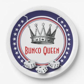 Patriotic Bunco Queen Paper Plate