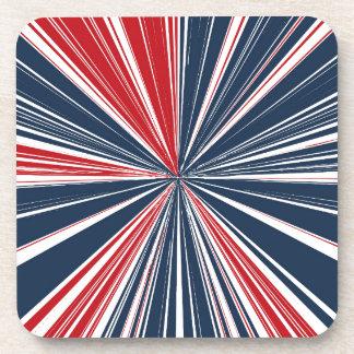 Patriotic Burst Abstract Beverage Coaster