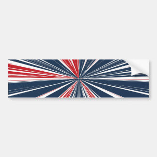 Patriotic Burst Abstract Bumper Sticker