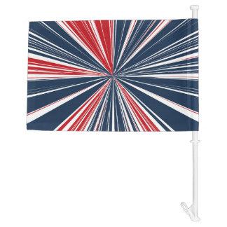 Patriotic Burst Abstract Car Flag