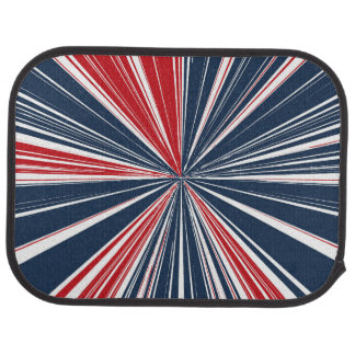 Patriotic Burst Abstract Car Floor Mat
