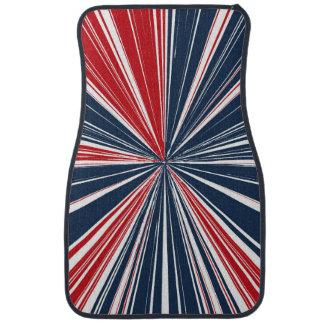 Patriotic Burst Abstract Car Mat