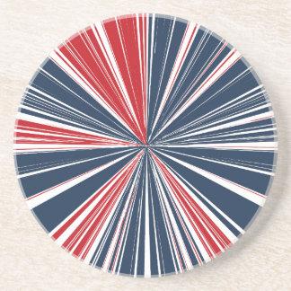 Patriotic Burst Abstract Coaster