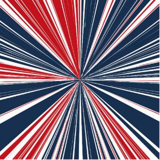 Patriotic Burst Abstract Cutout