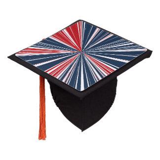 Patriotic Burst Abstract Graduation Cap Topper
