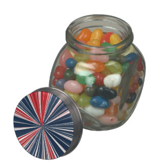 Patriotic Burst Abstract Jelly Belly Candy Jars