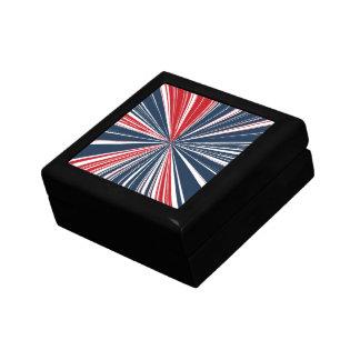 Patriotic Burst Abstract Jewelry Box