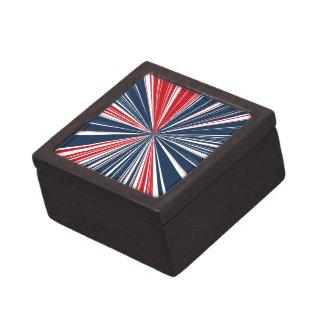 Patriotic Burst Abstract Keepsake Box