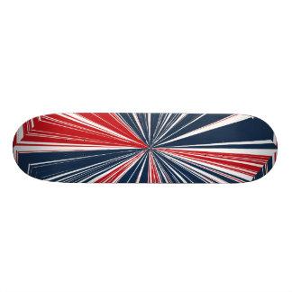 Patriotic Burst Abstract Skateboard Deck