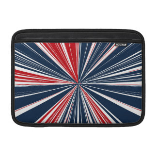 Patriotic Burst Abstract Sleeve For MacBook Air