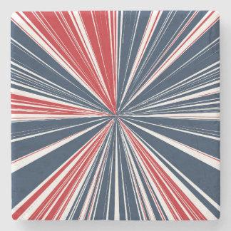 Patriotic Burst Abstract Stone Coaster