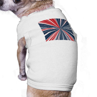 Patriotic Burst Abstract T-Shirt