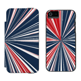 Patriotic Burst Abstract Wallet Case For iPhone SE/5/5s