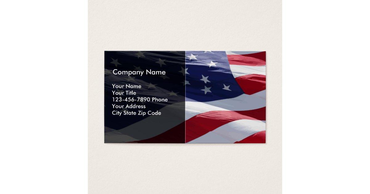 Patriotic Business Card | Zazzle.com