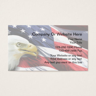Patriotic Business Card Template