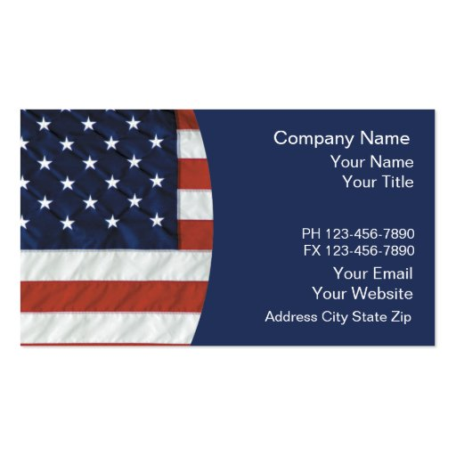 Patriotic business cards zazzle for Patriotic business card template