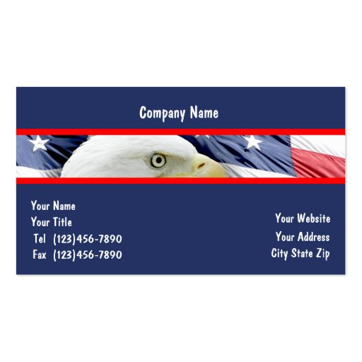 6000 american flag business cards and american flag for Patriotic business card template