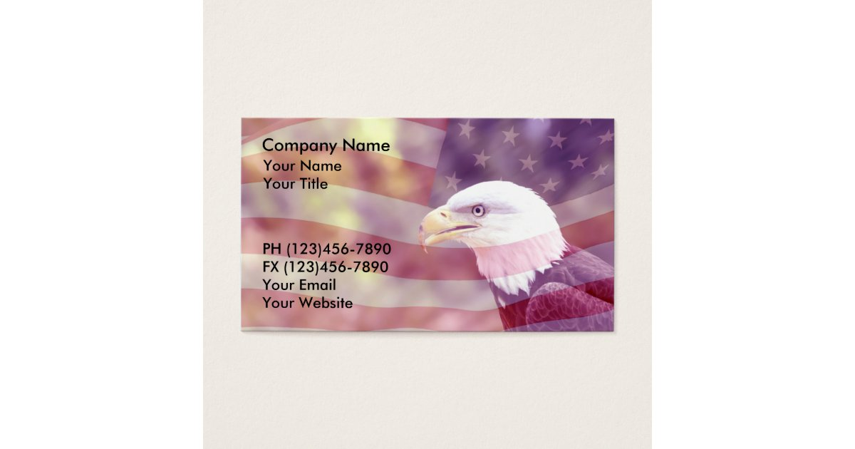 Patriotic Business Cards Background | Zazzle.com