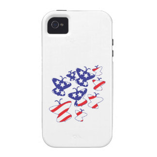 Patriotic Butterflies Case For The iPhone 4