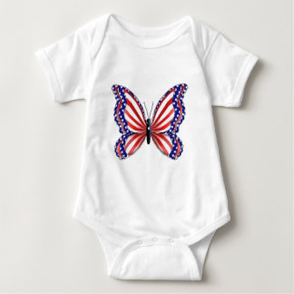 Patriotic Butterfly Baby Bodysuit