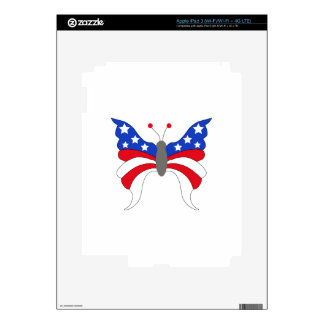 Patriotic Butterfly iPad 3 Decal