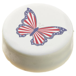 Patriotic Butterfly Oreo Cookies Chocolate Dipped Oreo