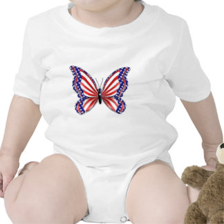 Patriotic Butterfly Baby Creeper