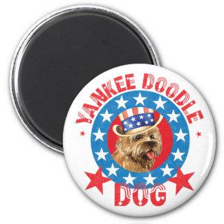 Patriotic Cairn Terrier Magnet