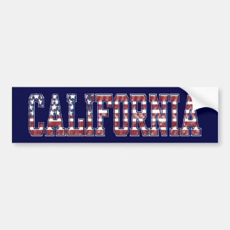 PATRIOTIC CALIFORNIA BUMPER STICKER