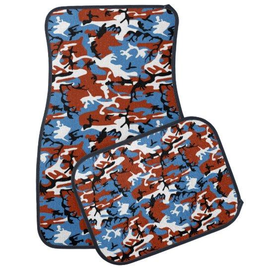 Patriotic Camo Car Floor Mat