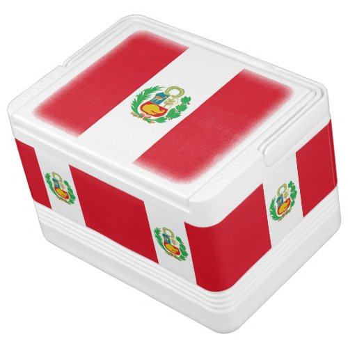 Patriotic can cooler with Flag of Peru