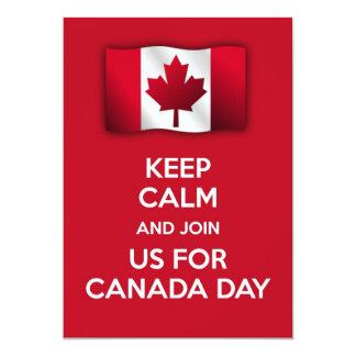 Patriotic Canada day Invitation keep calm