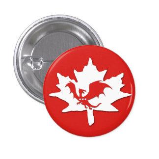 Patriotic Canadian Dragon Red Pins