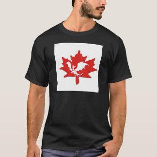 Patriotic Canadian Dragon White T-Shirt