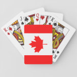 "Patriotic Canadian Flag Playing Cards<br><div class=""desc"">The national flag of Canada.</div>"