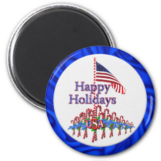 Patriotic Candy Canes Magnet