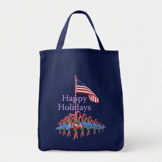 Patriotic Candy Canes Tote Bag