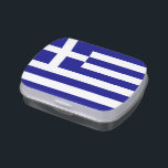 """Patriotic candy tins with Flag of Greece<br><div class=""""desc"""">Elegant,  patriotic candy tins,   Jelly Belly Tins with Flag of Greece. This product its customizable.</div>"""
