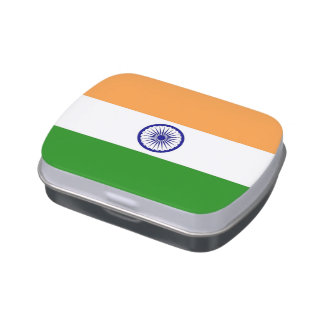 Patriotic candy tins with Flag of India