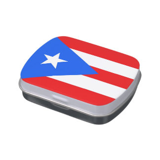 Patriotic candy tins with Flag of Puerto Rico