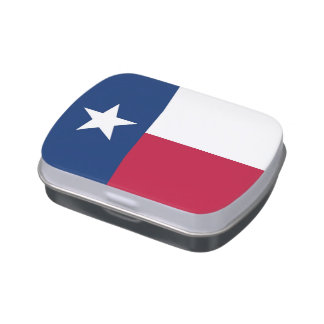 Patriotic candy tins with Flag of Texas