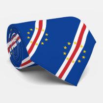 Patriotic Cape Verde Flag Neck Tie